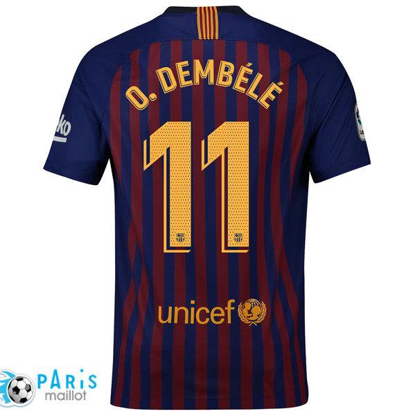 Coloriage Maillot De Foot France 2018.Coloriage Maillots De Foot Barcelone Domicile 11 O Dembele 2018 19