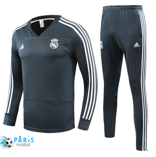 Survêtement Real Madrid Gris 2018/19 V