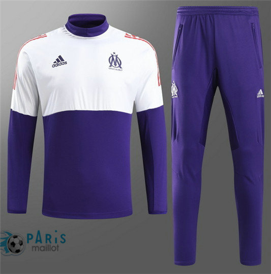 Survêtement Marseille Champion League Violet/Blanc 2018/19