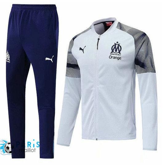 Survêtement Foot Marseille Veste Blanc 20