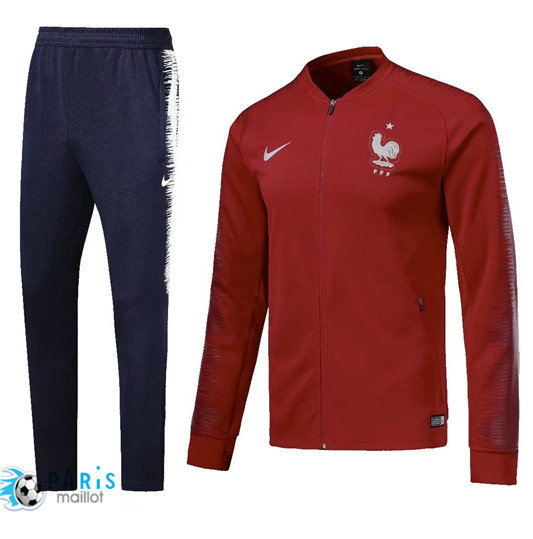 Survêtement France Veste Rouge 2018/19