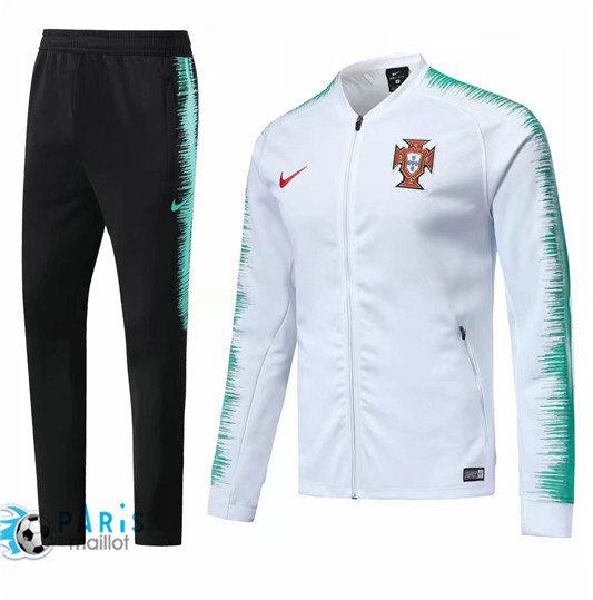 Survêtement Foot Portugal Veste Blanc 201
