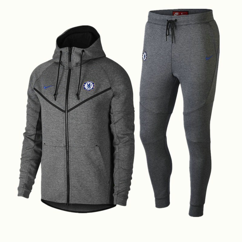 Survêtement Nike Chelsea Veste Gris 2018/19 Tech Fleece Windrunner