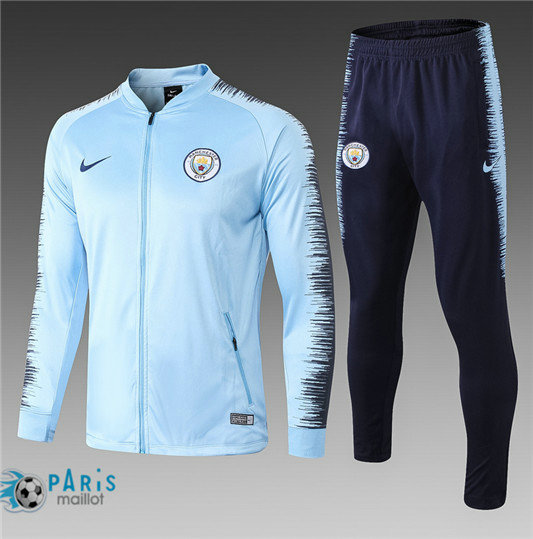 Survêtement Manchester City Veste Light Blue 2018/19