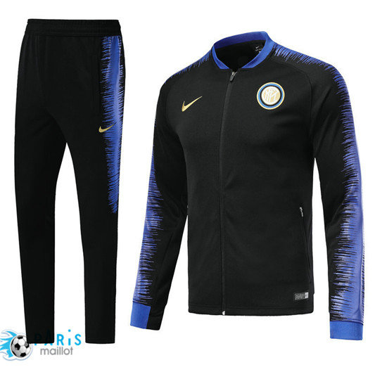 Survêtement Inter Milan Veste Noir 2018/19 Strike Drill