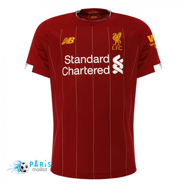 Maillotparis Maillot foot Liverpool Domicile Rouge 2019/20