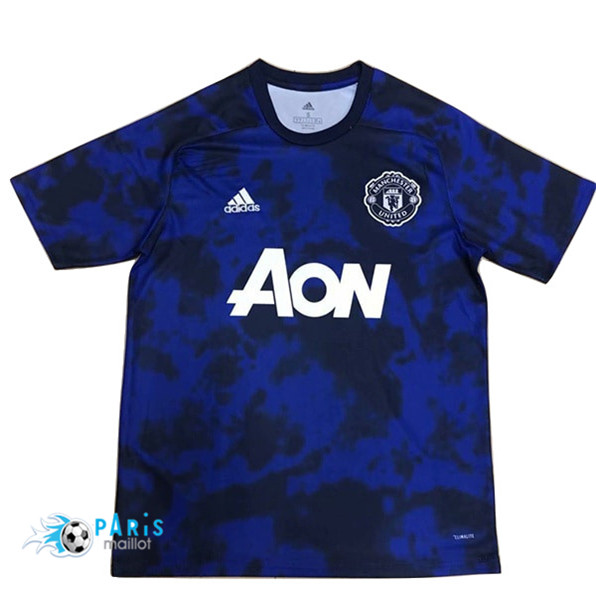 Maillotparis Maillot foot Manchester United training Bleu 2019/20