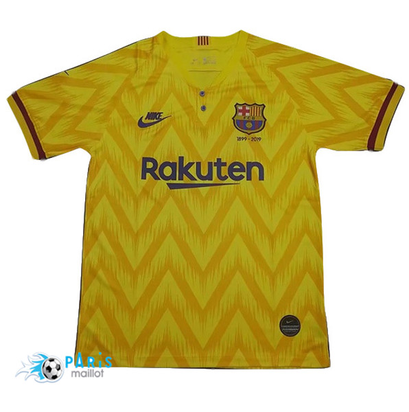 Maillotparis Maillot foot Barcelone 120th anniversary edition Jaune