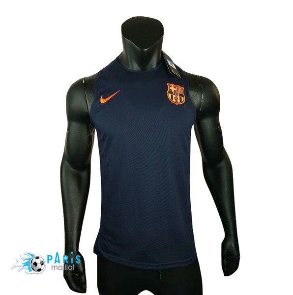 Maillotparis Maillot foot Barcelone Veste Bleu Marine/Orange 2019/20