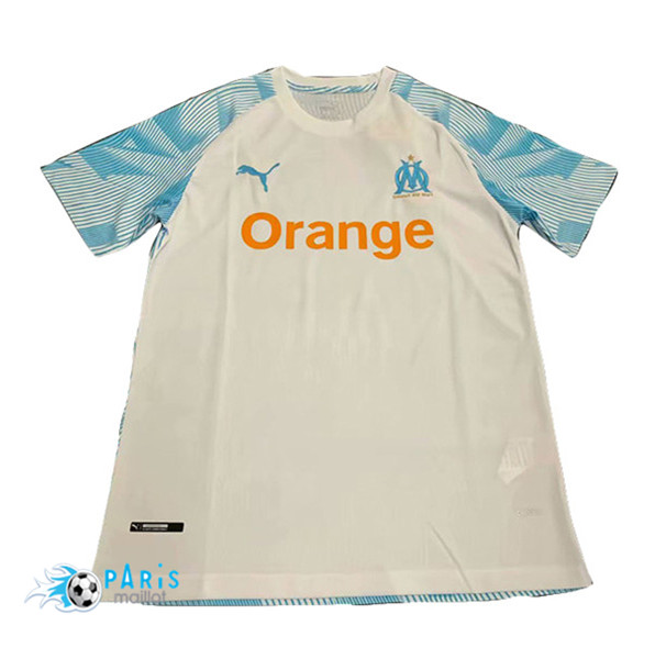 Maillotparis Maillot foot Marseille training Blanc/Bleu 2019/20