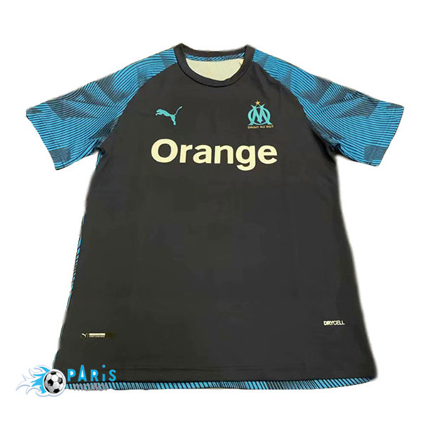 Maillotparis Maillot foot Marseille training Noir/Bleu 2019/20