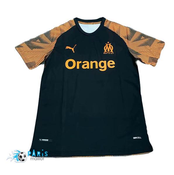 Maillotparis Maillot foot Marseille Training Noir/Jaune 2019/20