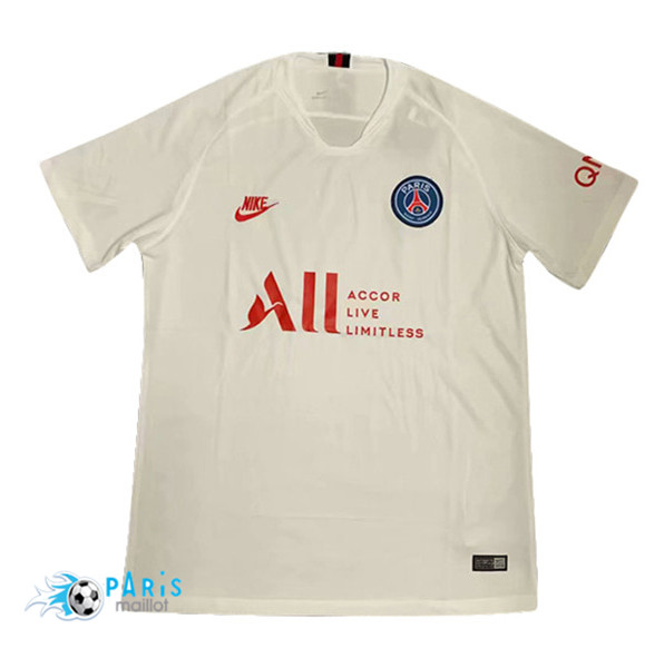 Maillotparis Maillot foot PSG Blanc Concept 2019/20