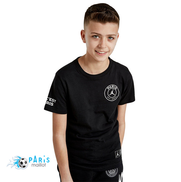 Maillotparis Maillot foot PSG Jordan Junior training Logo Noir 2018/19