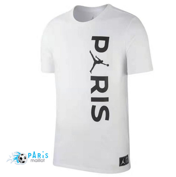 Maillotparis Maillot foot PSG Jordan training Wordmark Blanc 2018/19
