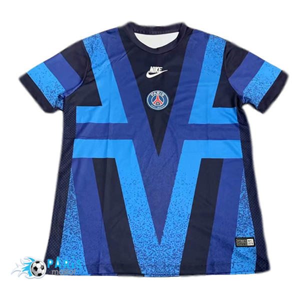 Maillotparis Maillot foot PSG Pré-Match Champions League Bleu 2019/20