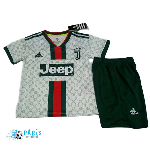 Maillotparis Maillot foot Juventus Enfant Version Fuite Blanc 2019/20