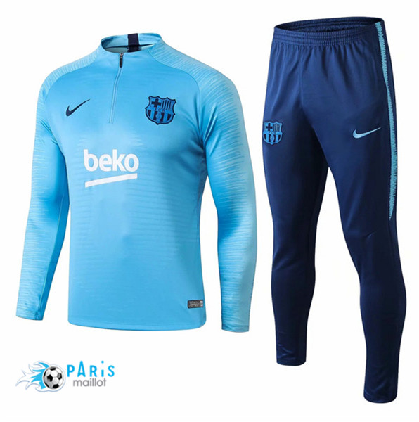 Maillotparis Maillot foot Barcelone Survetement Bleu Ciel Strike Drill 2018/19
