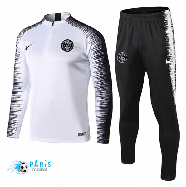 Maillotparis Maillot foot PSG Survetement Blanc Strike Drill 2018/19