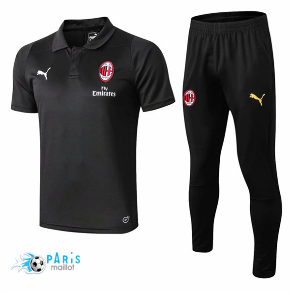 Maillotparis Maillot foot AC Milan POLO Training Noir 2018/19