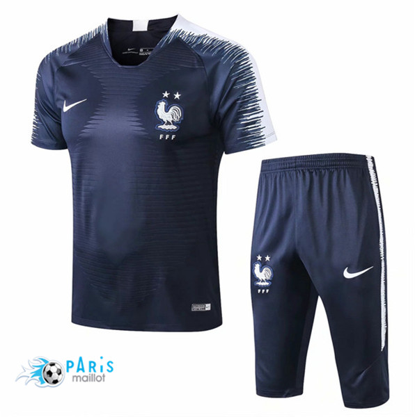Maillotparis Maillot foot France Training Bleu Marine Strike Drill 2018/19