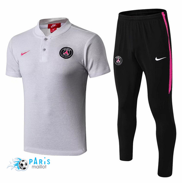 Maillotparis Maillot foot PSG POLO Training Gris 2018/19