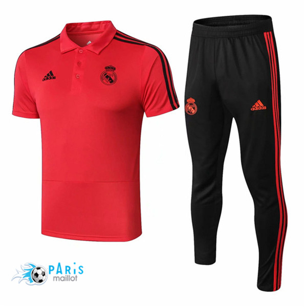 Maillotparis Maillot foot Real Madrid POLO Training Rouge 2018/19