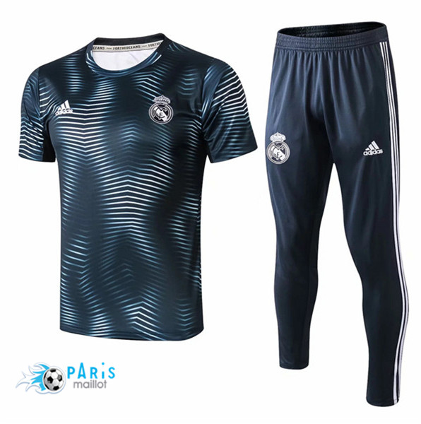 Maillotparis Maillot foot Real Madrid Training Vert barré 2018/19