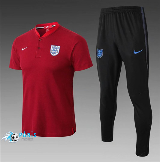 Maillotparis Nouveau Maillot Angleterre POLO Training Rouge 2018/19