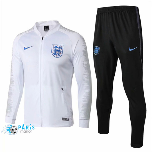 Maillotparis Nouveau Maillot Angleterre Veste Survetement Blanc Strike Drill 2018/19