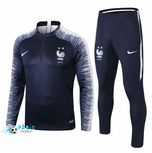 Maillotparis Nouveau Maillot Enfant France Survetement Bleu Marine Strike Drill 2018/19