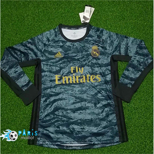 Maillotparis Nouveau Maillot foot Real Madrid Gardien de but Manche Longue 2019/20