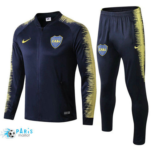MaillotParis Veste Survêtement Boca Juniors Bleu Marine 2018/2019 Strike Drill