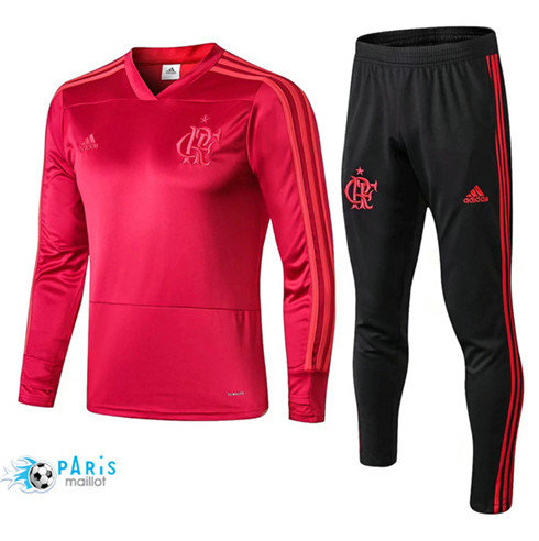 MaillotParis Survêtement Flamenco Rose 2018/2019 Col V