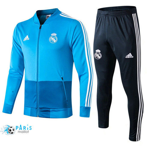MaillotParis Veste Survêtement Real Madrid Bleu 2019/2020
