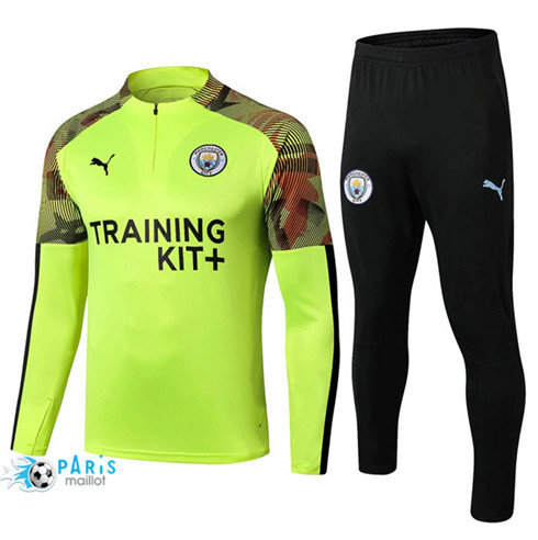MaillotParis Survêtement Manchester City Jaune + Short Noir 2019/2020
