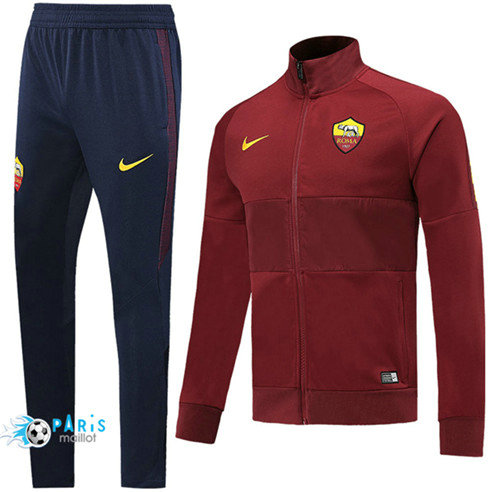 MaillotParis Veste Survêtement AS Roma Jujube Rouge 2019/2020
