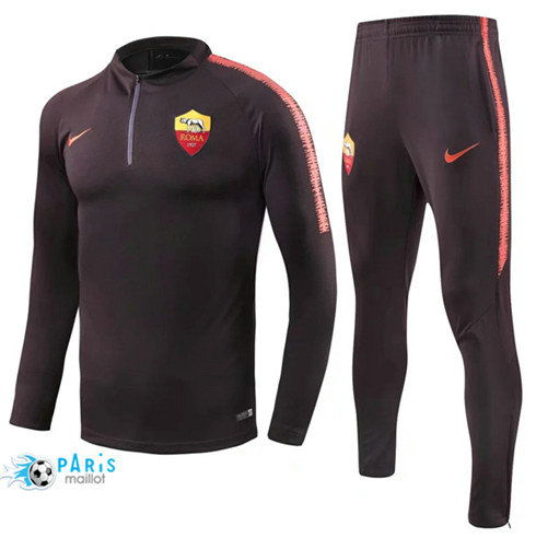 MaillotParis Survêtement AS Roma Jujube Rouge 2018/2019