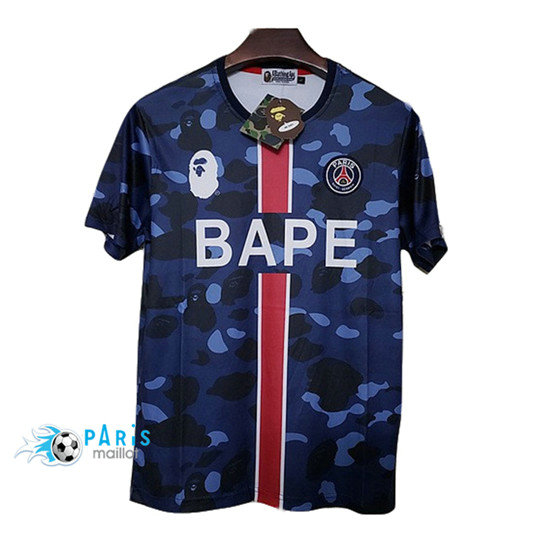 Maillotparis: Nouveaux Maillot foot PSG BAPE popular logo Paris fashion 2019/20 Thailande