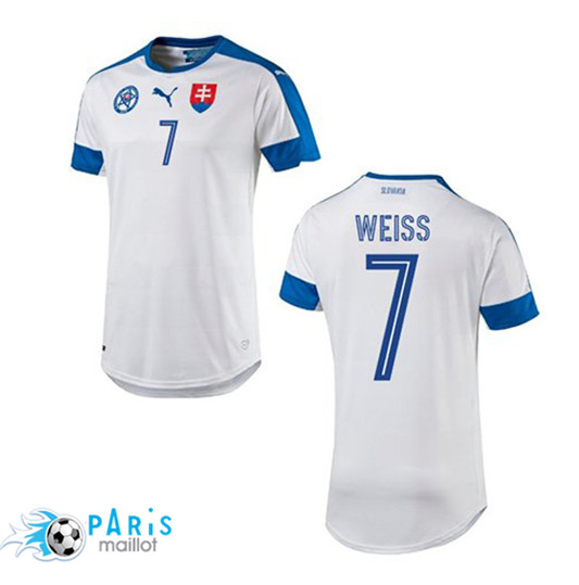 WEISS Maillot Slovaquie Domicile Euro 2016