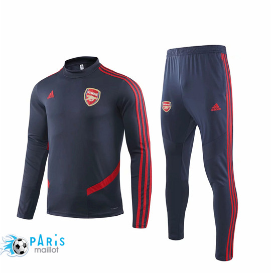 Maillotparis Nouveau Survetement Arsenal Bleu Marine/Rouge 2019/20