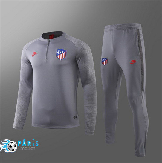 Maillotparis Nouveau Survetement Atletico Madrid Enfant Gris 2019/20