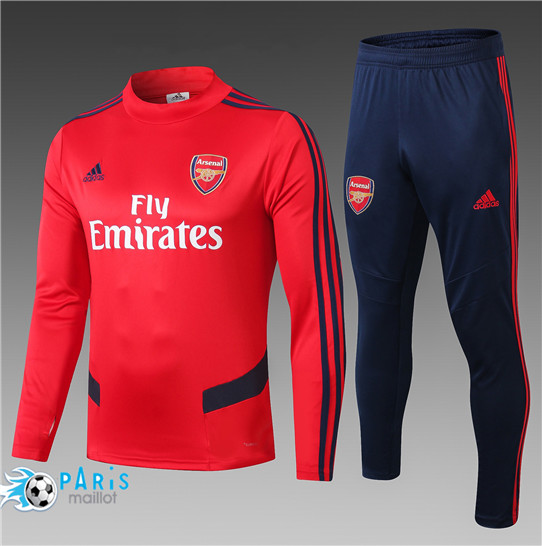 Maillotparis Nouveau Survetement Arsenal Fly Emirates Enfant Rouge 2019/20