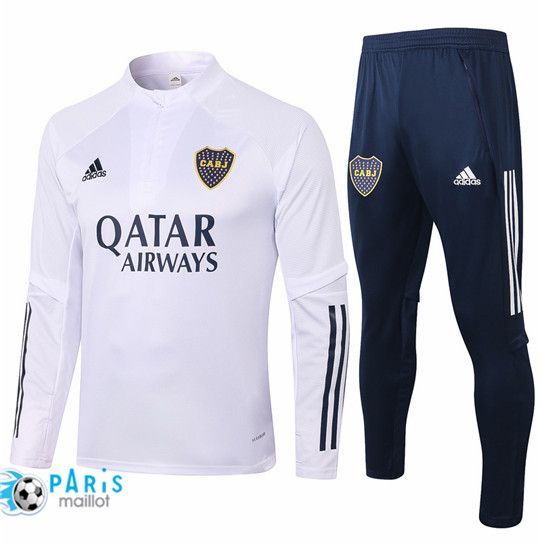 Maillotparis Nouveau Survetement Boca Juniors Blanc 2020/21