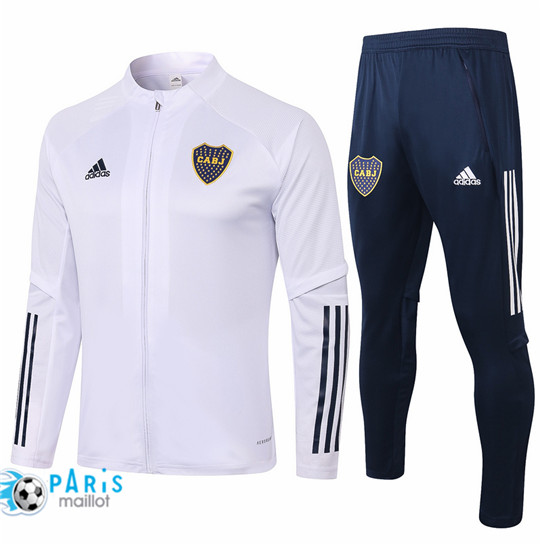 Maillotparis Thailande Veste Survetement Boca Juniors Blanc 2020/21