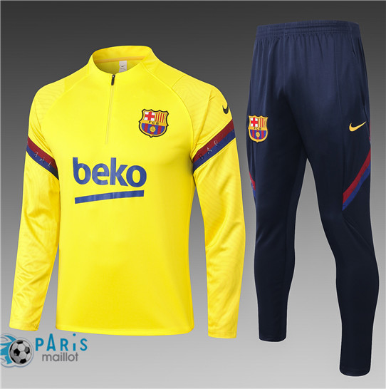 Maillotparis Thailande Survetement Barcelone Enfant Jaune 2020/21