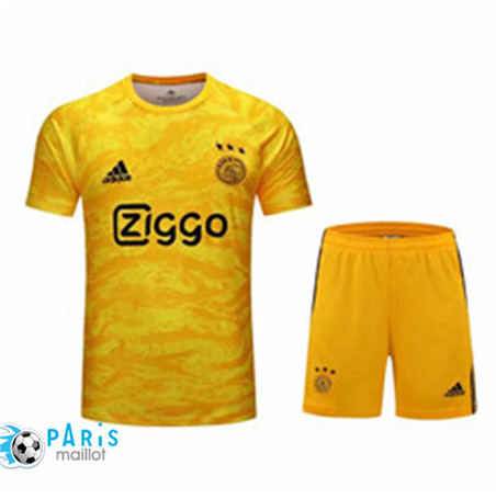 Maillotparis Nouveau Ensemble Goalkeeper Ajax + Pantalon Jaune 2019/20