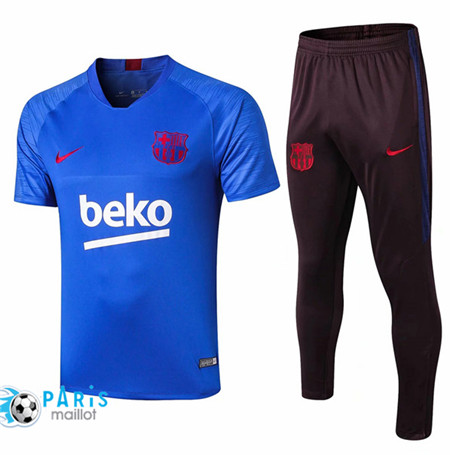 Maillotparis Nouveau Ensemble Training Barcelone + Pantalon Bleu 2019/20