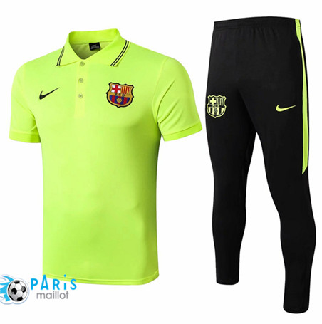 Maillotparis Nouveau Ensemble Training Barcelone POLO + Pantalon Vert 2019/20