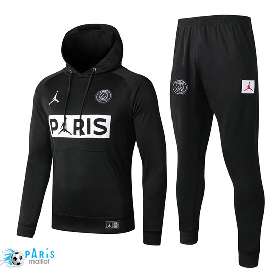 Maillotparis Nouveau à Capuche Survetement Paris Saint Germain Noir 2019/20